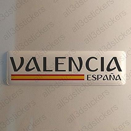 Pegatina Valencia España Resina, Pegatina Relieve 3D Bandera ...