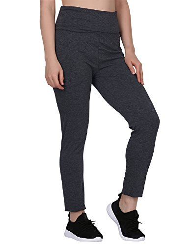 (HDE Women's Maternity Yoga Pants Pregnancy Stretch Fold Over Lounge Leggings (Charcoal Gray with Charcoal Gray, Large))