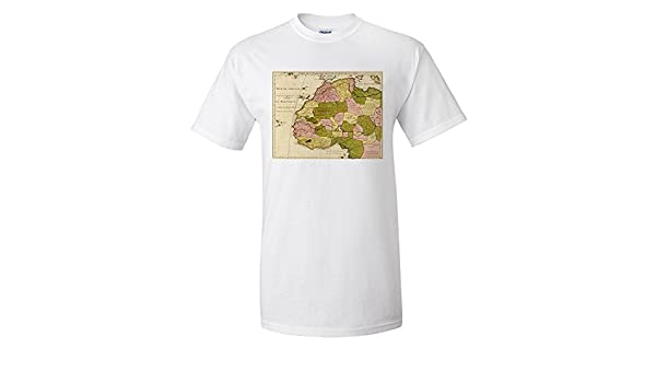Western Africa - Panoramic Map (Premium T-Shirt): Amazon.es: Ropa y accesorios