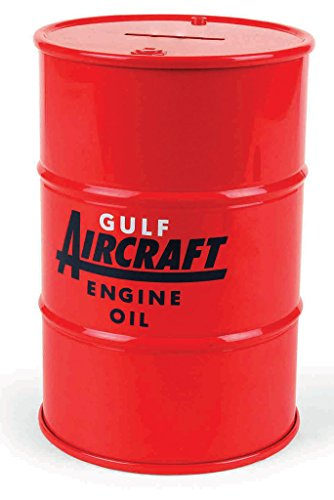 First Gear 1/6 Scale Diecast Collectible Gulf Oil Aviation 55-Gallon Drum Bank (#99-0450)