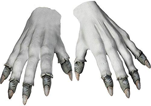 Pennywise Clown - Morbid Enterprises Pennywise Gloves, White/Grey, One