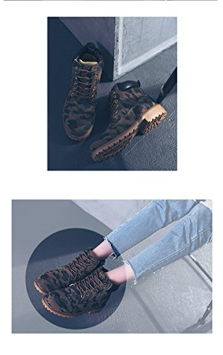 Martin Anti Moda Botas Botas Botines Calentar Minetom Otoño Mujer de Boots Zapatos Invierno Trabajo Nieve deslizante Retro de Lazada Camuflaje qXqx7wz