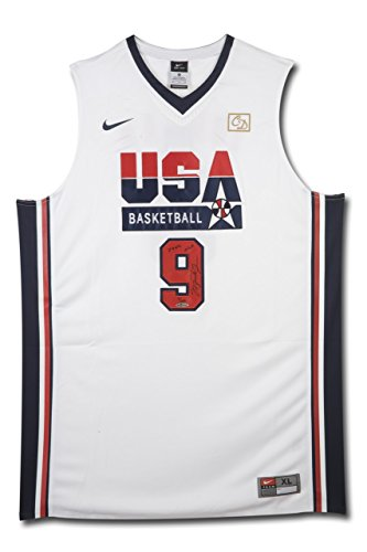 5b55a9958 MICHAEL JORDAN Signed & Inscribed Nike 1992 Olympic Basketball Jersey UDA  LE 109
