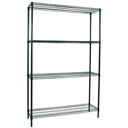 48 Green Epoxy Wire Shelf (Apollo Hardware Commercial Grade Green Epoxy 4-Shelf NSF Wire Shelving Rack, 14