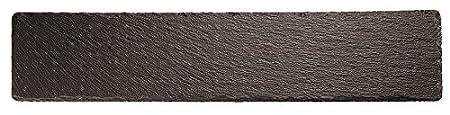 Black Paderno World Cuisine 41585-52 Rectangular Natural Slate Tray