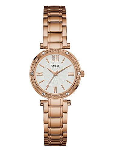 GUESS-Womens-Rose-Gold-Tone-Petite-Sparkle-Watch
