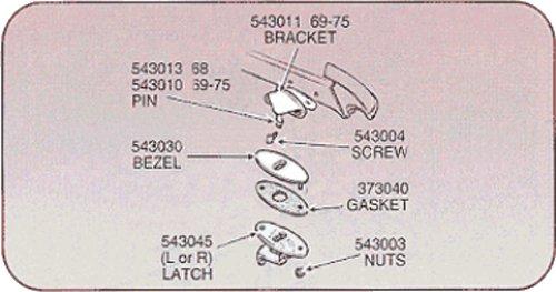 1968-1975 Corvette Deck Lid Catch Bezel Mount Nuts by Corvette Central (Image #2)