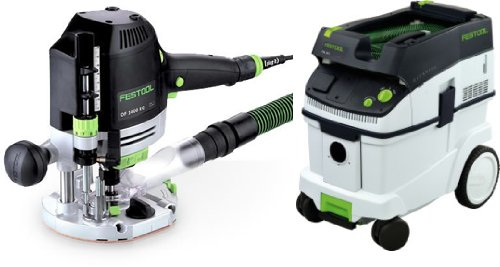 Festool OF 1400 EQ Router + CT 36 E Dust Extractors Package ()