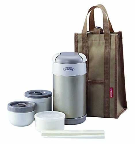 Tiger LWR-A092 Thermal Lunch Box, Champagne Gold by Tiger Corporation