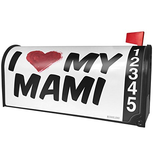NEONBLOND I heart love my Mami Magnetic Mailbox Cover Custom Numbers
