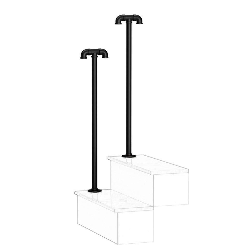 BXCGDICD Pipe Stair Handrail, Anti-Slip Stair Railing - Wall-Mounted Handrails Corridor Support Rod - Corridor,Hospital,Villas (Color : Grip Tube Diameter of 2.5cm, Size : 35cm) by BXCGDICD