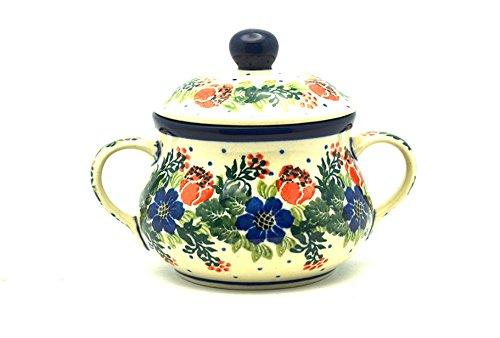 Polish Pottery Sugar Bowl - Garden Party
