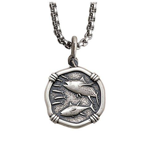 Guy Harvey Tuna Medallion in Sterling Silver on a 22