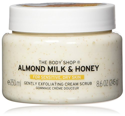 The Body Shop Almond Milk & Honey Body Scrub Exfoliator - 250ml (Honey Almond Sugar Scrub)