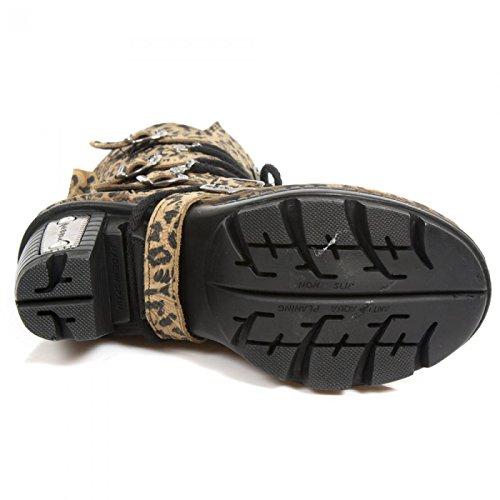 New Rock Fatti A Mano Damen M Neotr005 C130 Leopardo Stiefel