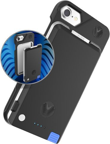 iPhone 6+ / 6s+ / 7+ / 8+ Battery Case with Removable Battery Pack for iPhone 6 Plus / 6s Plus / 7 Plus / 8 Plus by Vibes Modular (Black)