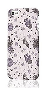 Catnip Kitty Cat Pattern (Gray) Pattern Image - Protective Rough - Hard Plastic Case - For SamSung Galaxy S6 Phone Case Cover 6791394M660949513