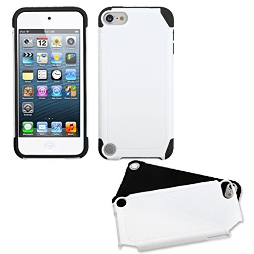 - Asmyna White/Black Frosted Fusion Protector Cover for iPod touch 5
