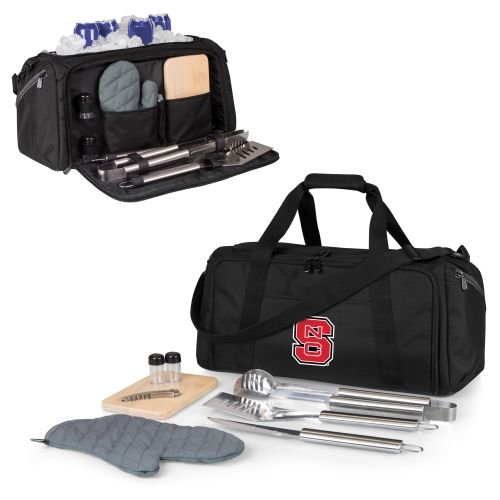 PICNIC TIME NCAA North Carolina State Wolfpack BBQ Kit Cooler Tote with Barbecue & Accessories by PICNIC TIME