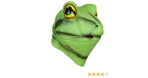 Máscara rana látex Carnaval adulto disfraz animales teatro: Amazon.es: Productos para mascotas