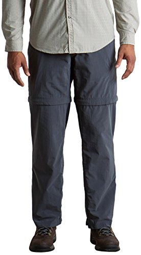 ExOfficio Men's Bugsaway Sol Cool Ampario Convertible Pant, Carbon, 32