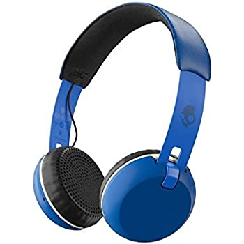 skullcandy grind bluetooth wireless on-ear headphones with built-in mic and  remote, 12-hour rechargeable battery, supreme sound audio, plush ear  pillows for
