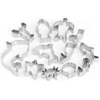GWHOLE Sea Creature Cookie Cutter Set Ocean Themed for Kids, Pack of 12