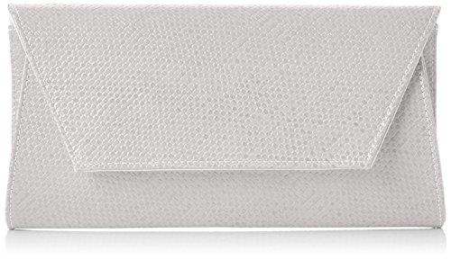 Swanky Swans Mischa Faux Leather Clutch - Carteras de mano Mujer Blanco (White)
