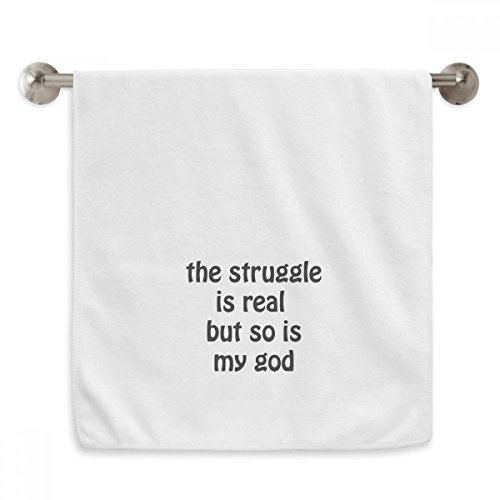 DIYthinker The Struggle Is Real Christian Quotes Circlet White Towels Soft Towel Washcloth 13x29 Inch by DIYthinker