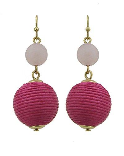 Fashion Trendy Thread Ball Dangle Earrings for Women / -