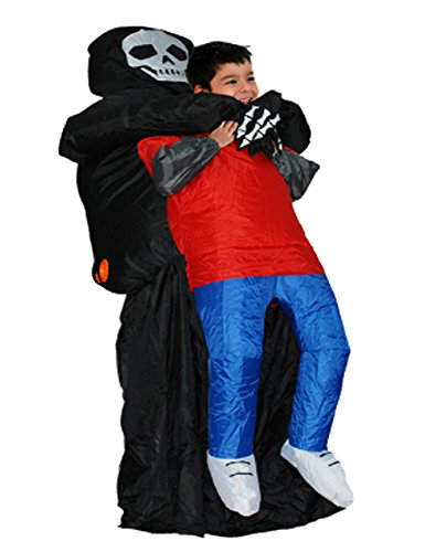 Wecloth Inflatable Grim Reaper Halloween Scary Skeleton Fancy Dress Cosplay Inflatable Ghost Costume by Wecloth