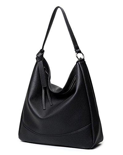 Hopeeye black La Cuero Pu De Mujer Mujer Bolso negro Moda 1 dwpj05 Tendencias 1 PZZnwx