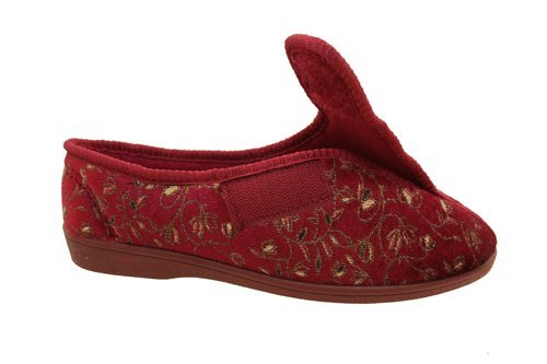 Surf4Shoes Chaussons Fit Lavable Touch Bordeaux Large Bleu Machine Fermeture Femmes OU en Rouge Ac4qCfwA