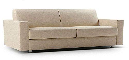 Calia Maddalena–Sofa in Leder Club, Sofa Bett aus Leder, Leder gelb klar