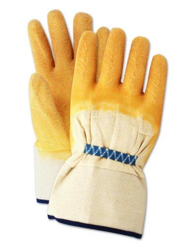 Glass Gloves (Magid 4591PT ChemGrade Collection Sharp Edge Handler Latex Palm Gloves, Men's One Size)