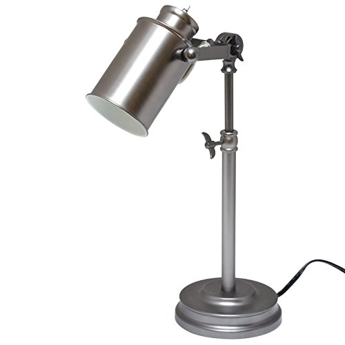 Light Accents Desk Lamp Antique Style Metal, Desk Light (Aged Pewter) - Pewter Touch Lamp