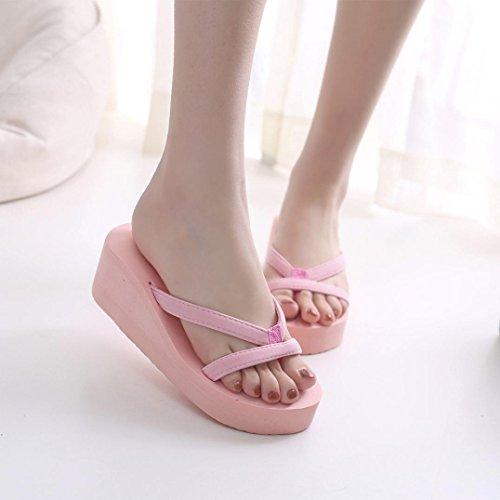 Zapatos Mujer de Interior Libre Playa de de Al Mujer de Zapatilla Chanclas Rosa Verano Mujer Sandalias Aire Chancletas Gusspower Zapatos qCw4AB5