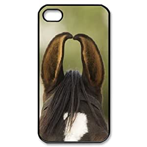 Marwari Horse Ears IPhone 4/4s Cases for Girls, Case for Iphone 4s for Boys [Black]