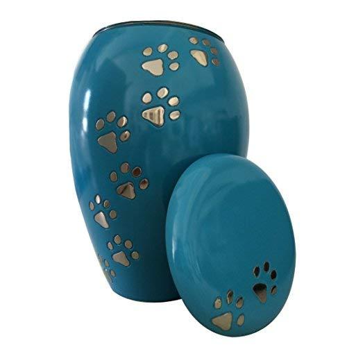 Pet Cremation Urns UK Monarch Blue Climbing Paw Urn Ashes