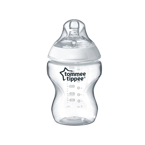 Tommee Tippee Closer to Nature Baby Bottle, Anti-Colic Valve, Breast-like Nipple for Natural Latch, BPA-Free- Slow Flow, 9 Ounce, 3 Count
