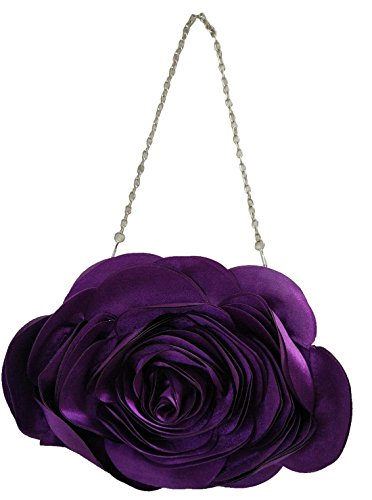 Purple Party Rose Bags Clutch Bywen Shoulder Pattern Womens Purse nvwaPWSUq