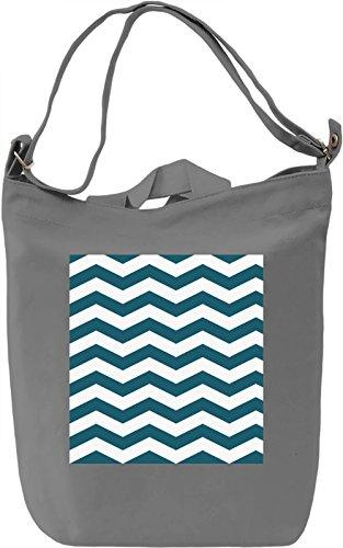 Waves Print Borsa Giornaliera Canvas Canvas Day Bag| 100% Premium Cotton Canvas| DTG Printing|