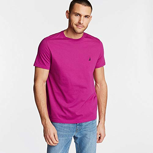 Nautica Short Sleeve Solid Crew Neck T-Shirt, Fancy, - Big Nautica And Tall