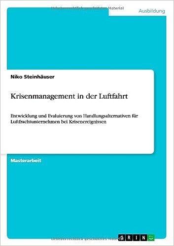 Krisenmanagement in Der Luftfahrt by Niko Steinhauser (2013-09-15)