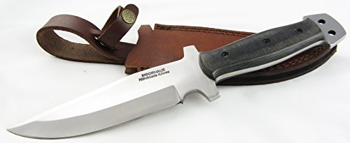 """D2 Tactical Knife - Moorhaus Handmade 12"""" Total Length - Includes Leather Sheath - Special Promotional Pricing"""