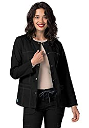 Adar Pop-stretch Junior Fit Taskwear Topper Jacket - 3208 - Black - S
