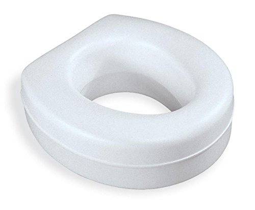 Medline Elevated Heavy Duty Raised Toilet Seat, 300lb Weight Capacity