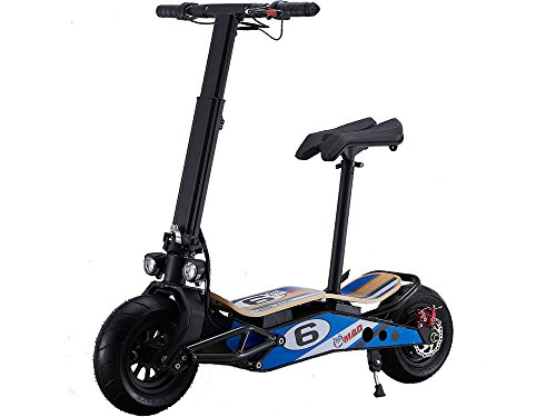 MotoTec MiniMad 800w 36v Lithium Electric Scooter, Up to 15 mile Ride Time!