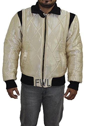 Fahren Scorpion Wende-2 in 1 Silber & Goldene Satin-Jacke. Sie erhalten 2 Jacken in 1 Preis