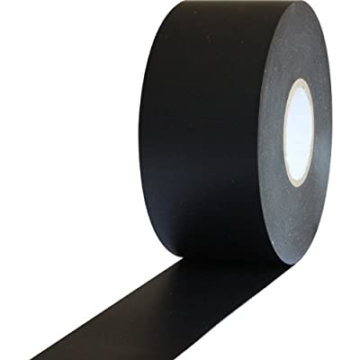 """ProTapes Pro 603 Rubber Pipe Wrap Tape with PVC Backing, 10 mil Thick, 100' Length x 2"""" Width, Black (Pack of 1)"""